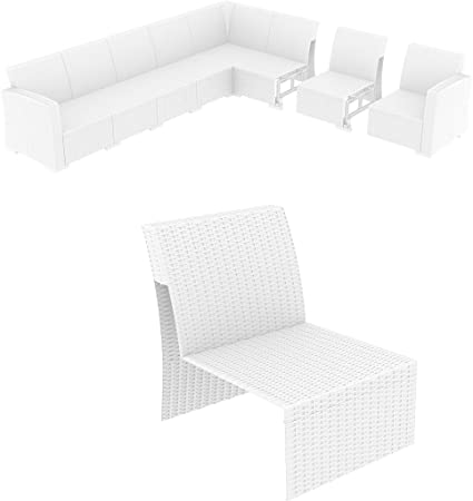 Incredible Amazon Com Monaco Sectional Extension Part White With Forskolin Free Trial Chair Design Images Forskolin Free Trialorg