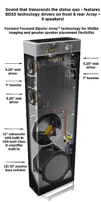 Definitive Technology BP9080x High Performance Tower Speaker IEAA A