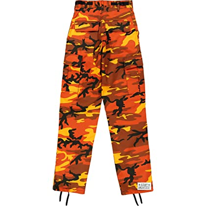 ... Army Universe Orange Camouflage Poly Cotton Cargo BDU Pants Camo  Military Fatigues Pin (Medium Regular ... 6027bcec35d