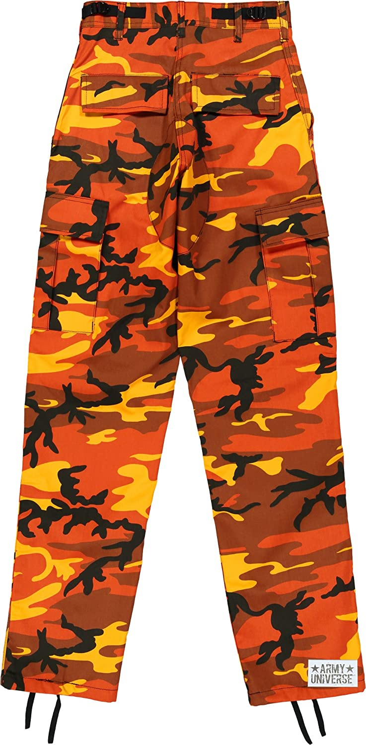 Amazon.com  Army Universe Orange Camo Cargo BDU Pants Hunters Camouflage  Tactical Military Fatigues with Pin  Clothing 0e9602039e7