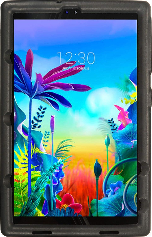 BobjGear Bobj Rugged Tablet Case for LG G Pad 5 10.1 FHD Kid Friendly (Bold Black)