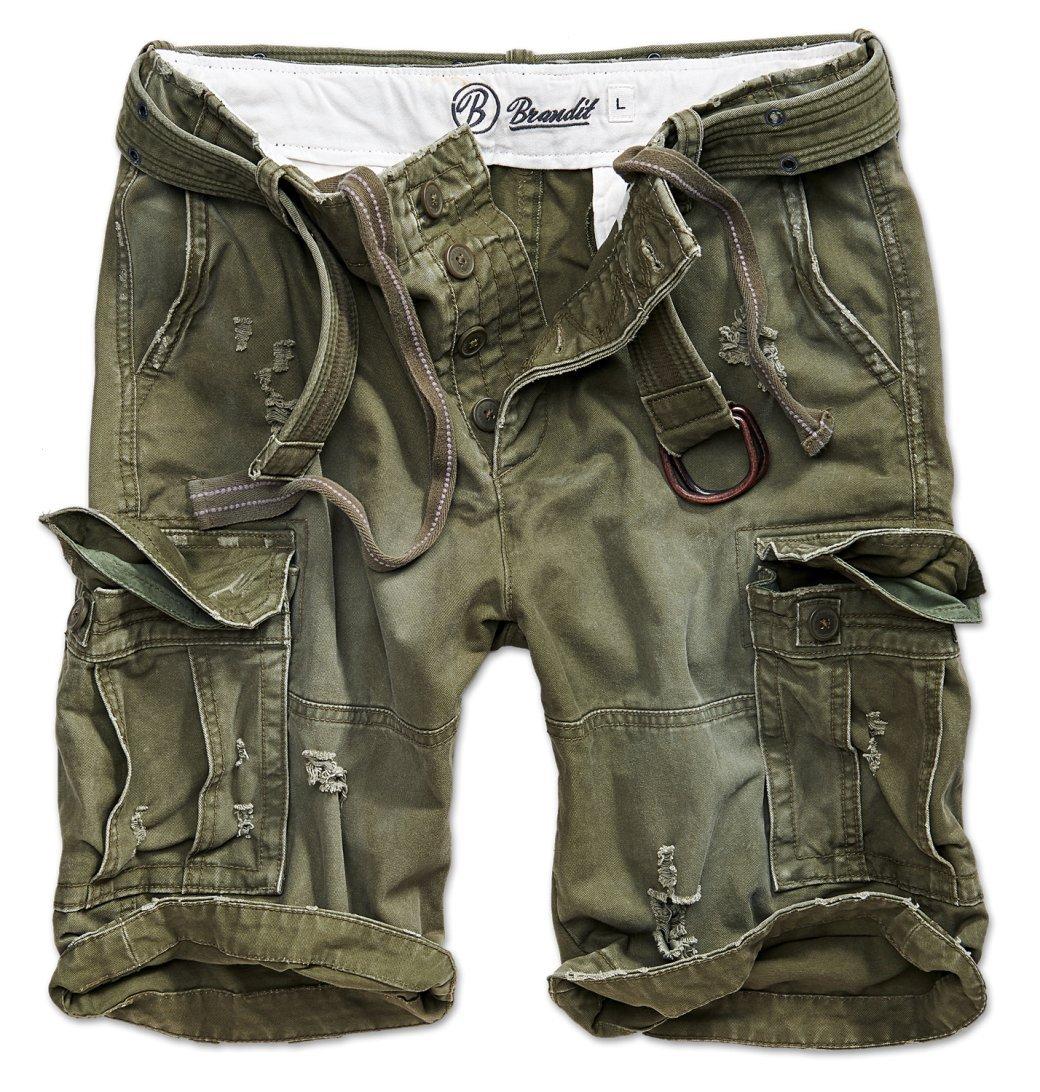 Brandit Shell Valley Heavy Vintage Shorts Olive Size L