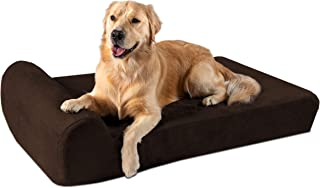 "product image for Big Barker 7"" Pillow Top Orthopedic Dog Bed for Large and Extra Large Breed Dogs (Headrest Edition)"