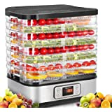 Food Dehydrator Machine, Digital Timer and Temperature Control, 8 Trays, for Jerky/Meat/Beef/Fruit/Vegetable, BPA Free…
