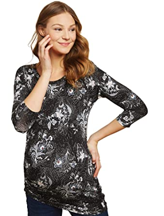 e0d88173623 Jessica Simpson Ruched Maternity Tunic at Amazon Women s Clothing store