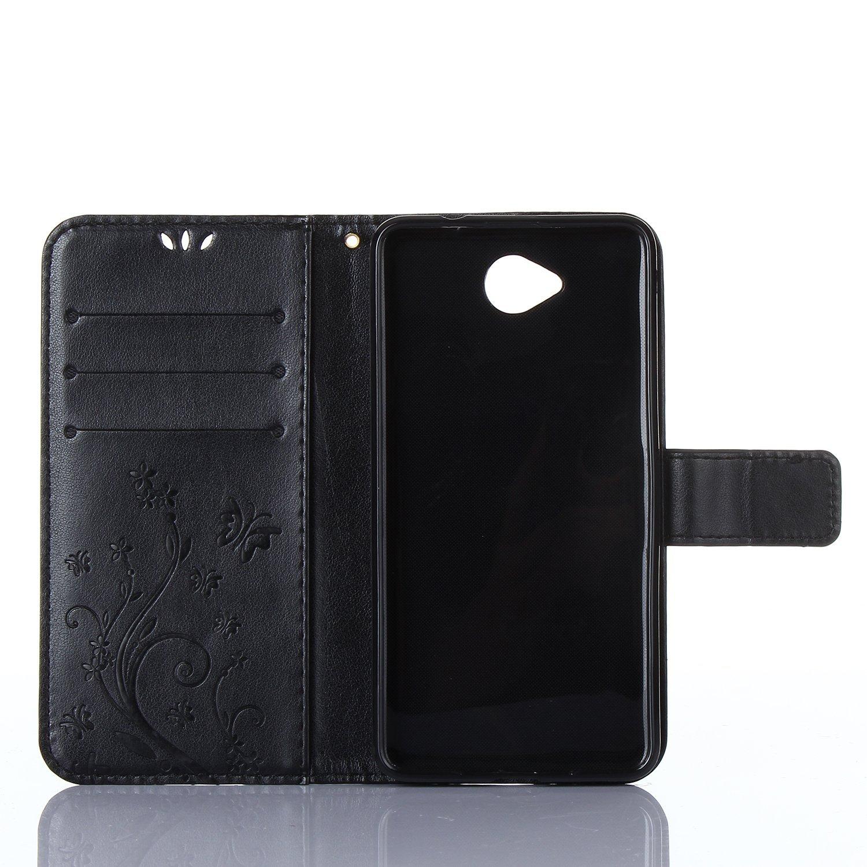 con copertura Custodia Flip per Microsoft Lumia 650 credito con scheda tenuto a taglio Dooki in pelle PU tifoso Custodia a portafoglio 650 Lumia Cover