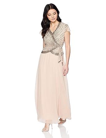 J Kara Womens Plus Size Beaded Flutter Sleeve Dress At Amazon