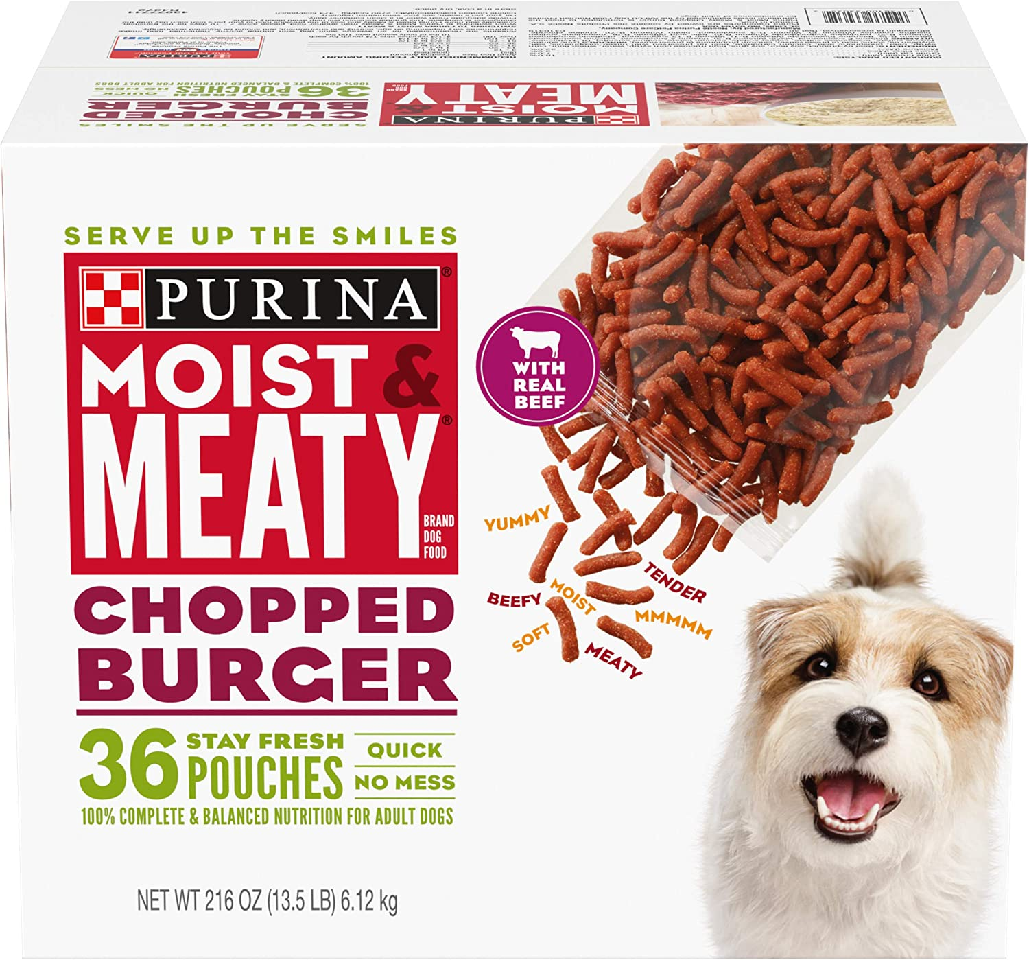 Purina Moist & Meaty Chopped Burger Adult Dry Dog Food