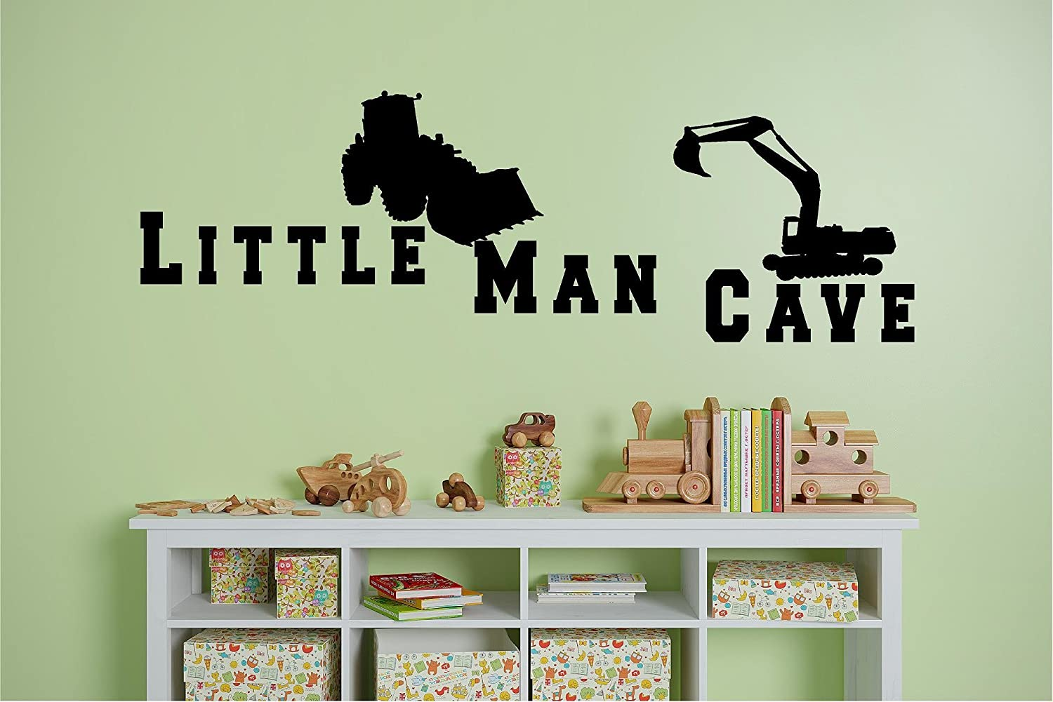 Little Man Cave Decal Childrens Wall Decal Boys Baby Bedroom Home Decor