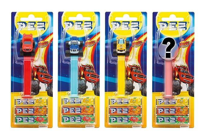 PEZ set de dispensadores Blaze (4 dispensadores con 3 recargas de caramelos PEZ de 8