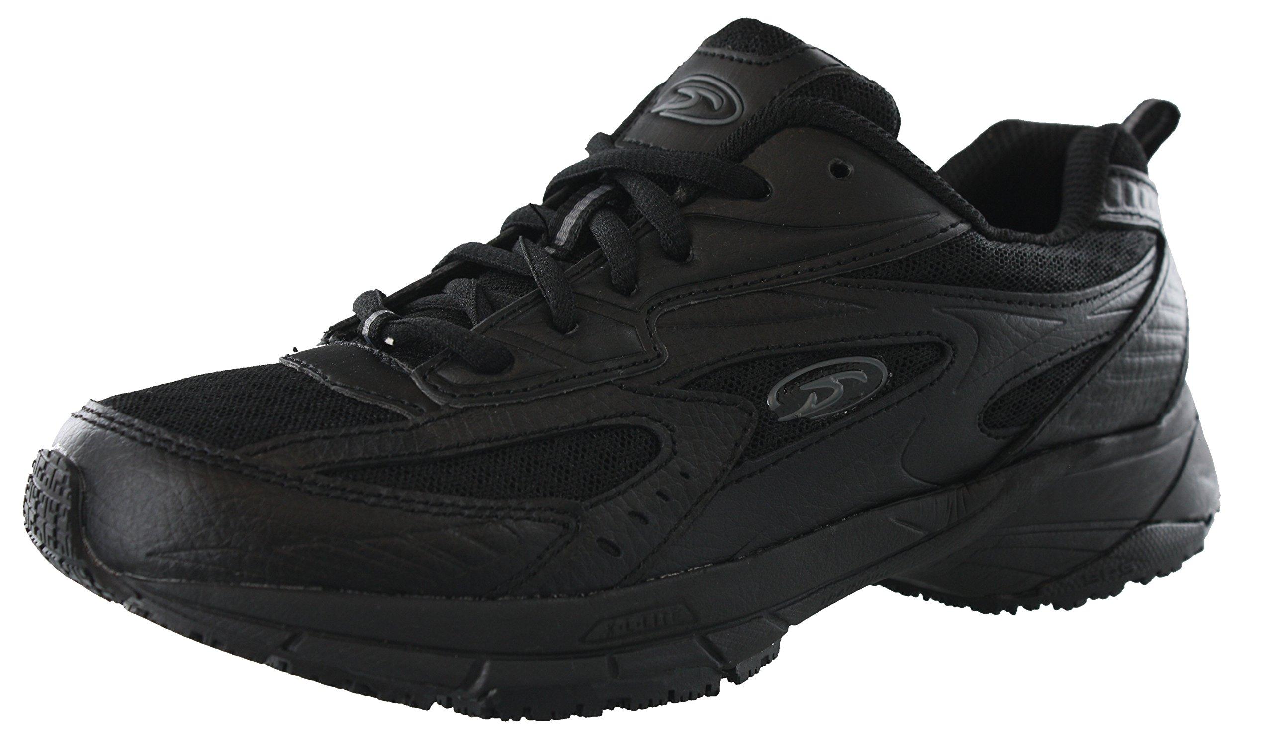 Dr. Scholl's Women's Peppy Black Wide Width Uniform Work Shoes (7 Wide US) by Dr. Scholl's