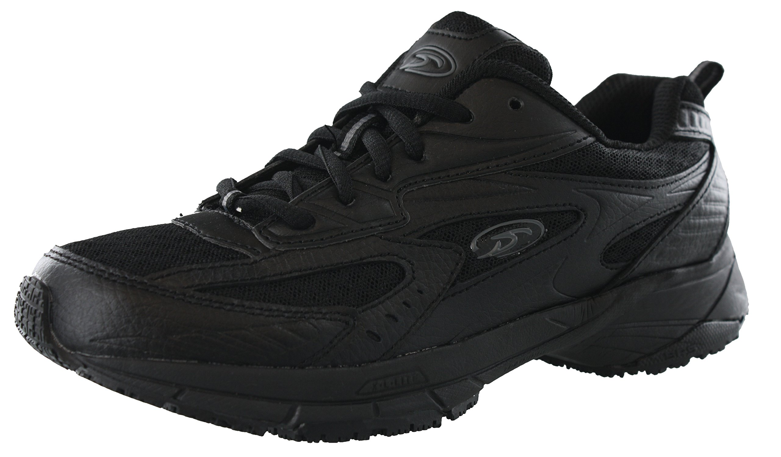 Dr. Scholl's Women's Peppy Black Wide Width Uniform Work Shoes