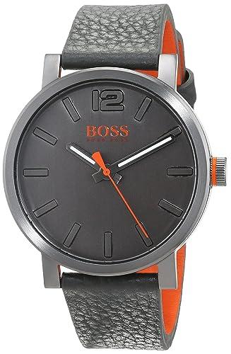f01b068c6cf Hugo Boss Orange Mens Analogue Classic Quartz Watch with Leather Strap  1550037  Amazon.co.uk  Watches