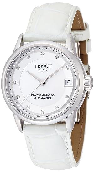 Tissot Reloj Analógico para Mujer de Automático con Correa en Cuero T086.208.16.116.00: Amazon.es: Relojes