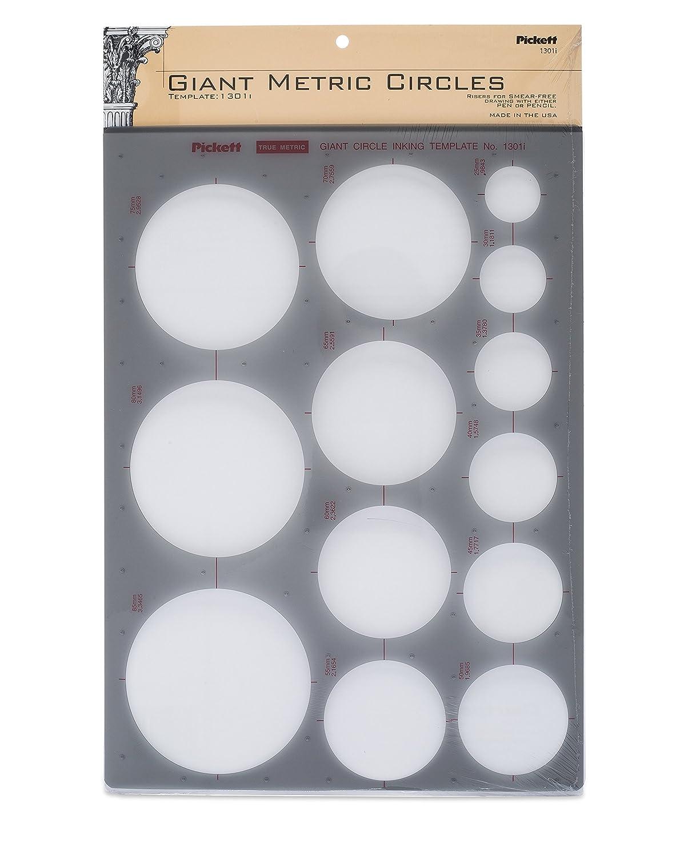 Pickett isometrica dadi esagonali e teste da 10 Cerchi Clear Chartpak 1200I