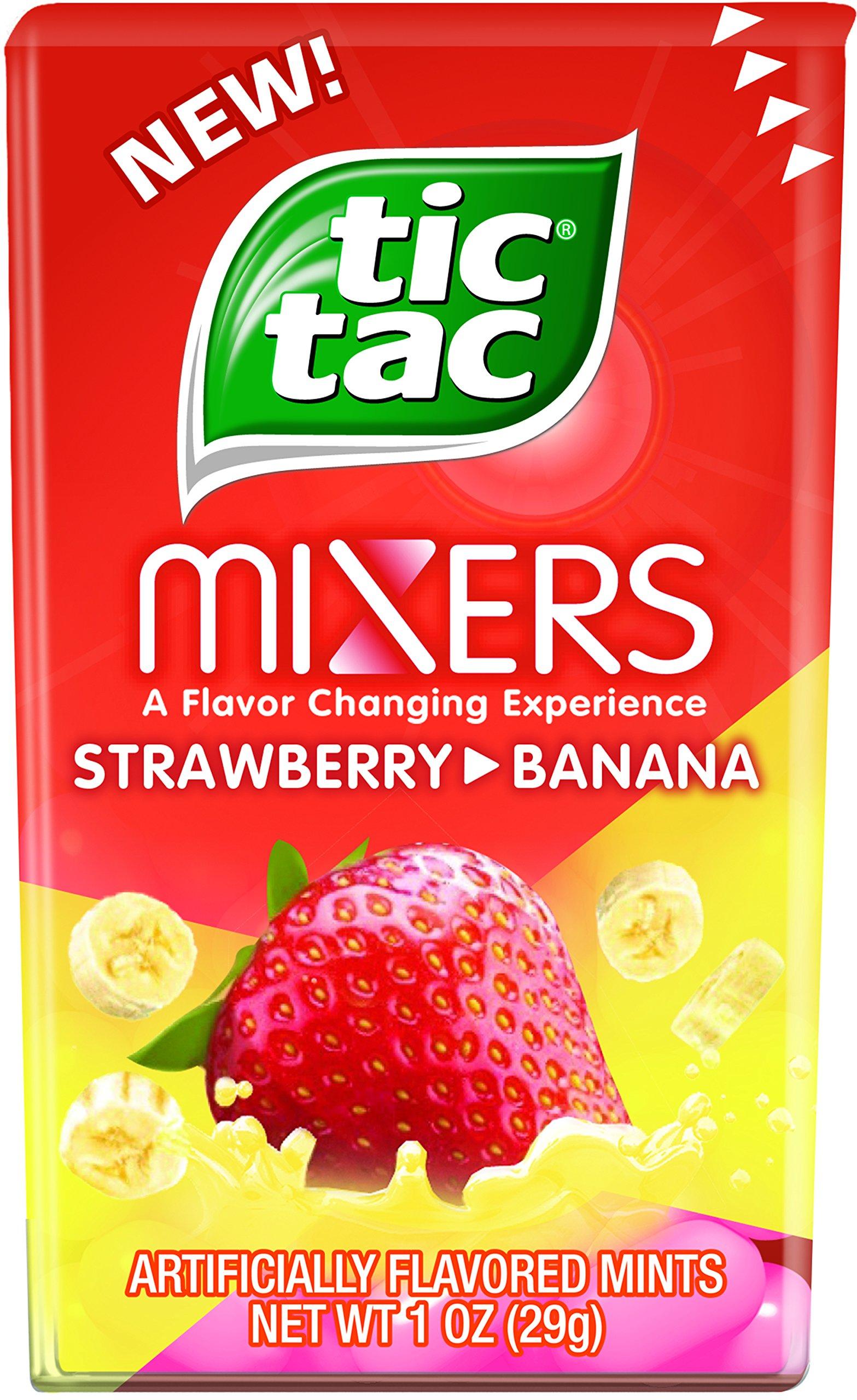 tic tac mints strawberry banana mixers 1oz 12 count