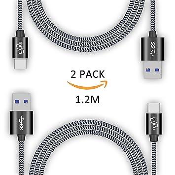USB C cable a USB 3.0 A [garantía de por vida] izuku 2 pieza