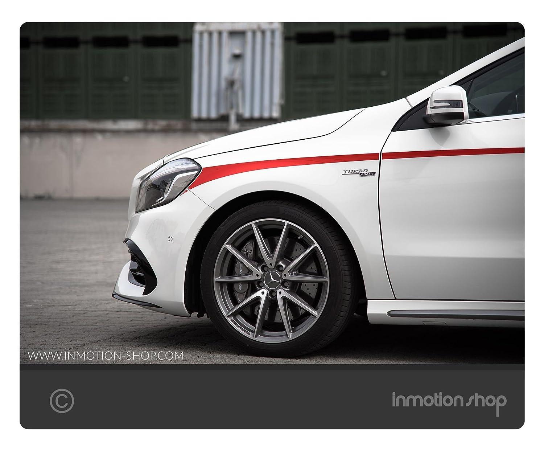 Belt Line F. De Mercedes AMG a 45 A de clase W176 Sport rayas Stripes A45 Tuning: Amazon.es: Coche y moto