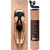 KAIZENLY Pro Milieuvriendelijke Yogamatte - Natuurlijke Kurk, Uitstekende Grip - Yoga Mat met Draagband - Voor Yoga…