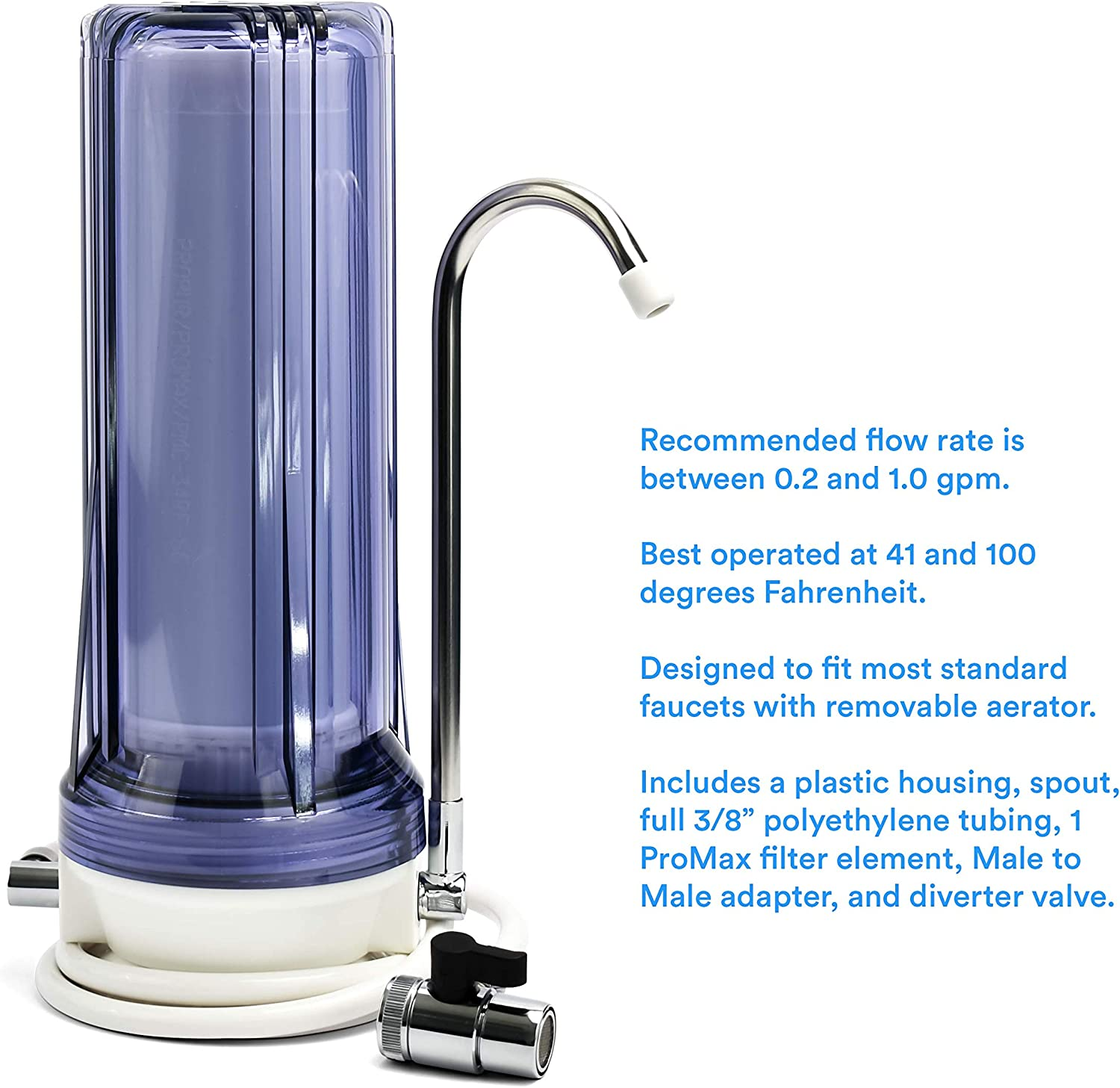 Use in Your Home or Office. Microplastics Includes 1 ProMax Filter Element Lead Chlorine Removes 200+ Contaminants Including Fluoride Propur Under Counter Drinking Water Filtration System