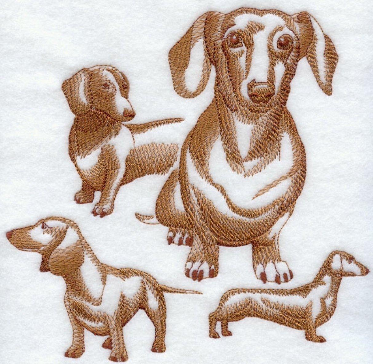 Dachshund (smooth) Custom Embroidered Sweatshirt Shirt