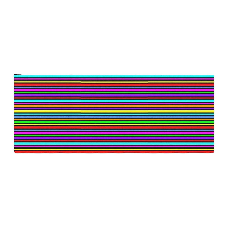 Kess InHouse Trebam Kolor Multicolor Stripes Bed Runner