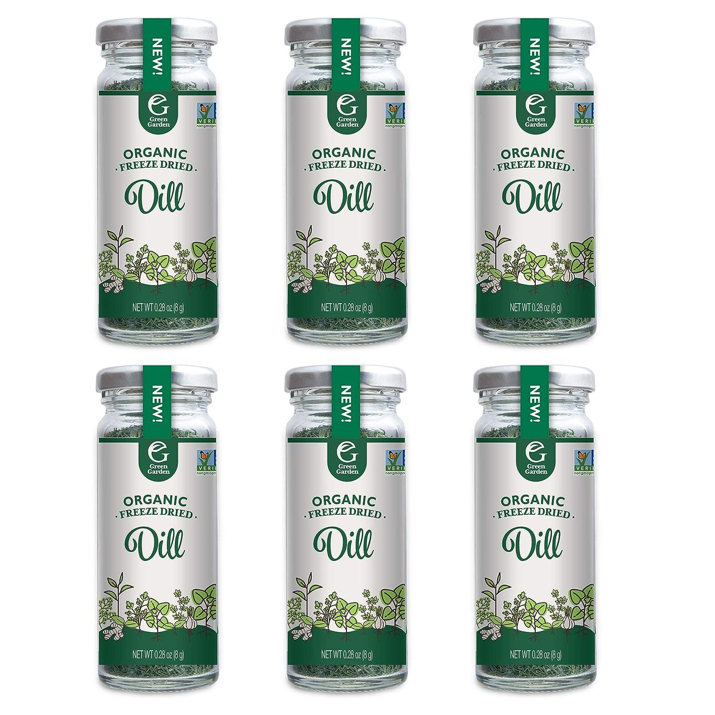 Green Garden Freeze-Dried Organic Dill, 0.28 Ounces, 6-Pack