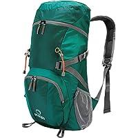 Prospo Large Shoulder Packable Backpack Travel Daypack Foldable Lightweight Bag 40L for Hiking Camping(Light Blue)