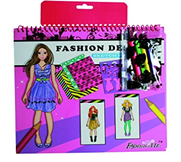 Do it yourself toys games fashion designer colouring book with do it yourself toys games fashion designer colouring book with stickers 4 coloured pens solutioingenieria Images
