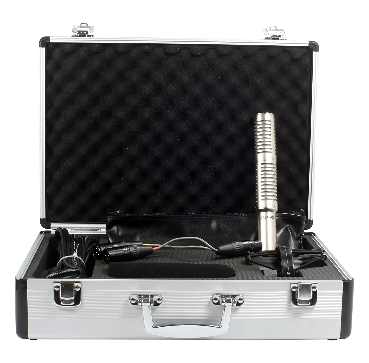 Cascade Microphones X-15 Stereo Mic Short Ribbon - Silver Body/Anodized Silver Grill