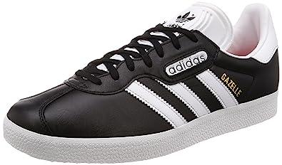 adidas Gazelle Super Essential, Chaussures de Fitness Homme, Noir (Negbas/Ftwbla/