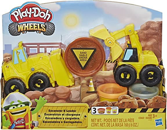 Play Doh Wheels Front Loader Toy Truck Play Doh 8 Pack of Neon Compound