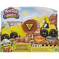 Play-Doh E4294 Wheels Excavator & Loader Toy Construction Trucks with Non-Toxic Sand Buildin' Compound Plus 2 Additional…