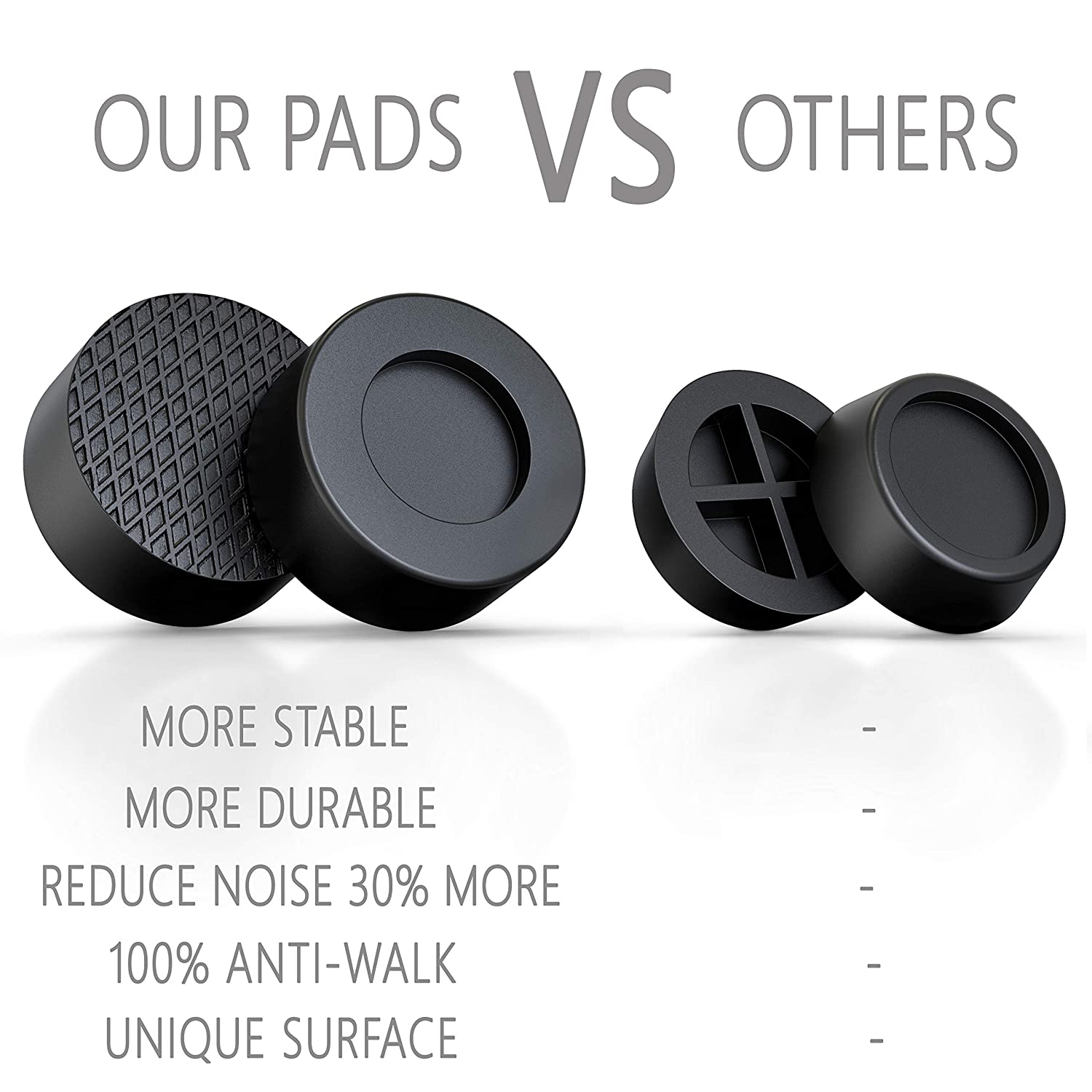 Fits All Washers /& Dryers Rubber Anti-Walk Anti Vibration Pads Prevent Walking and Vibration Ecardy Anti Vibrasion Pads for Washing Machine /& Dryer