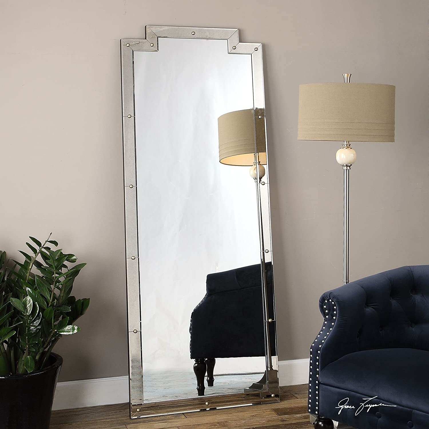 Amazon.com: Oversized Full Length Venetian Art Deco Mirror | Floor ...