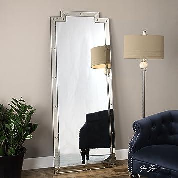 Oversized Full Length Venetian Art Deco Mirror