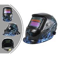 Leogreen - Masque de Soudure Réglable, Casque de Soudage Solaire à Éclairage Automatique, Motif éclairs, Matériau: PCB, État Sombre: DIN9-13
