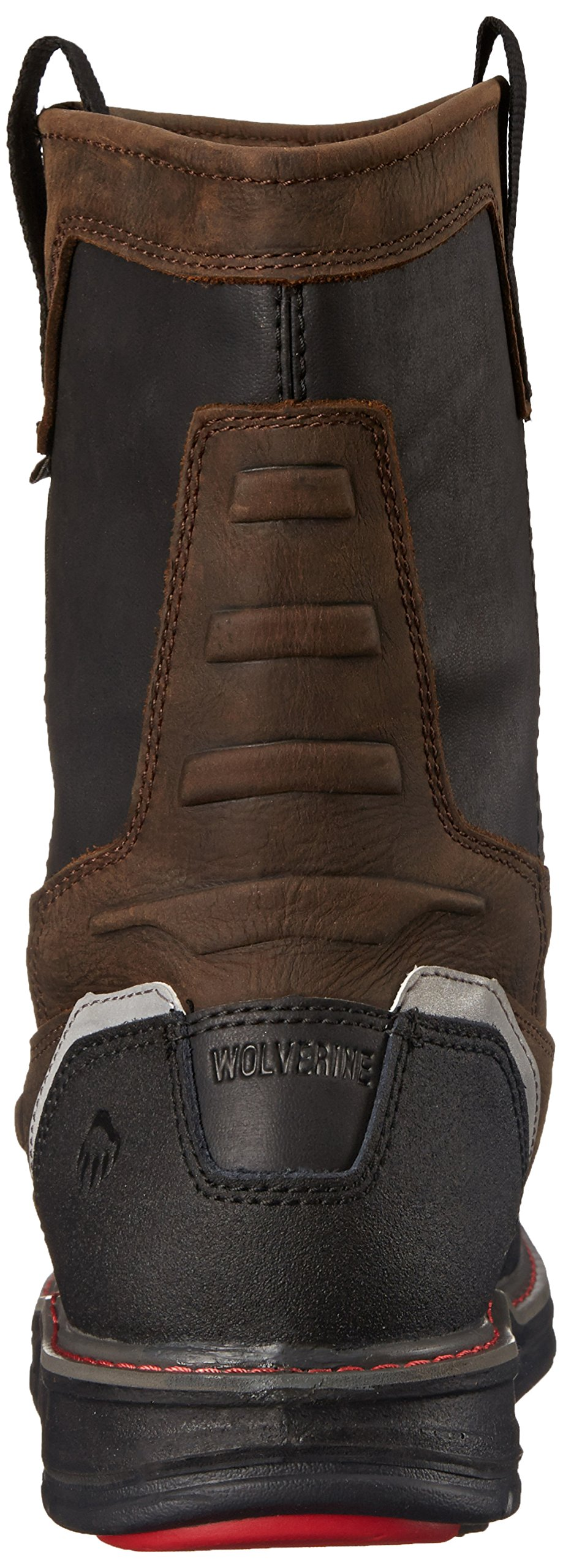 Wolverine Men's Overman Nano Toe 10 Inch WPF Work Boot, Brown/Black, 8.5 M US by Wolverine (Image #2)