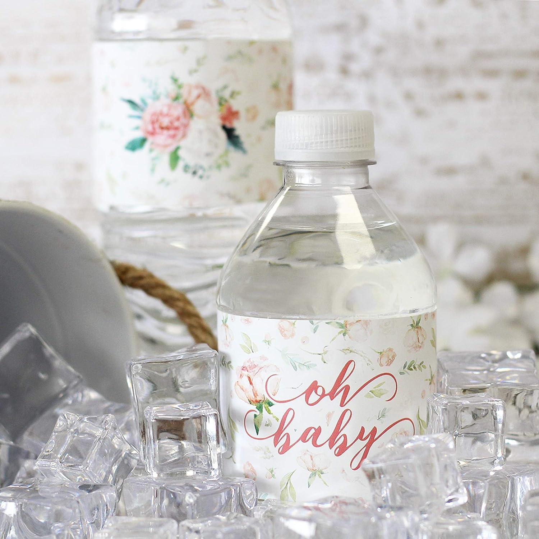 Amazon.com: Etiquetas de botella de agua para baby shower ...