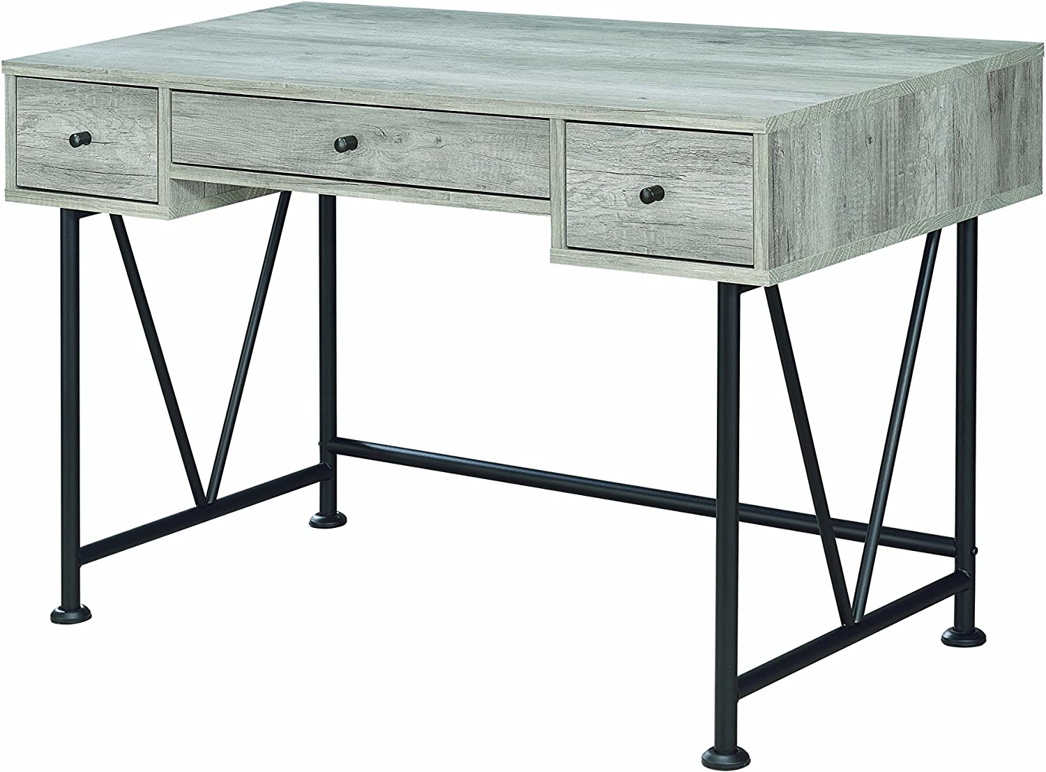 Coaster CO-801549 Writing Desk, Grey Driftwood