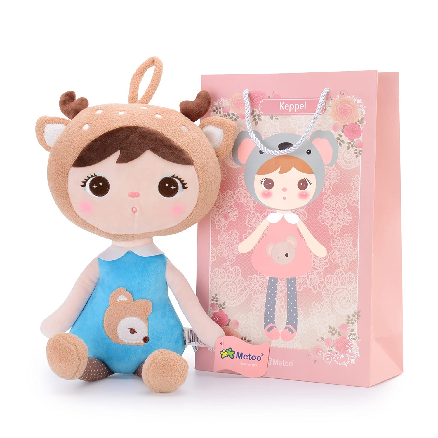 Me Too Keppel Stuffed Deer Baby Girl Dolls Plush Toys 18 Inches