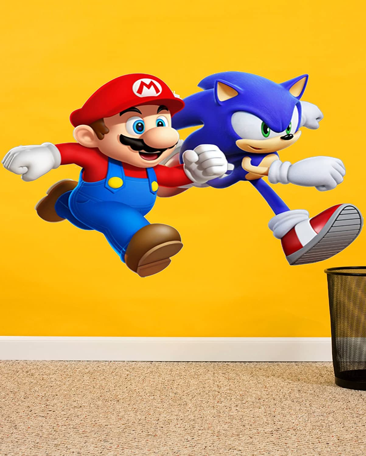 Buy RNG Mario & Sonic Forever Cartoons Wall Sticker for Child Room ...