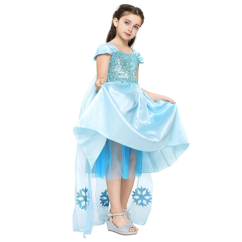 Katara 1842 Vestido de Princesa Elsa de Frozen Disfraz con Tiara 3-4 Años, Azul: Amazon.es: Juguetes y juegos
