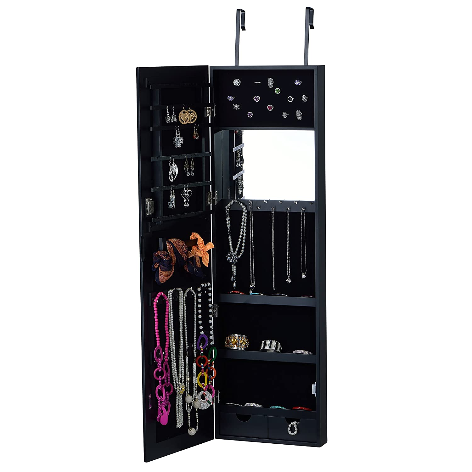 with full wall first organizer cabinet in class jewelry length mounted built top mirror floor storage