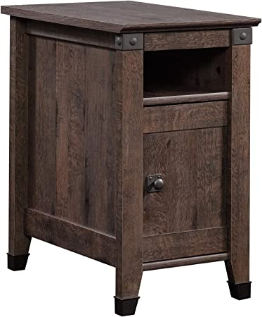 Sauder Carson Forge Side Table, Coffee Oak finish
