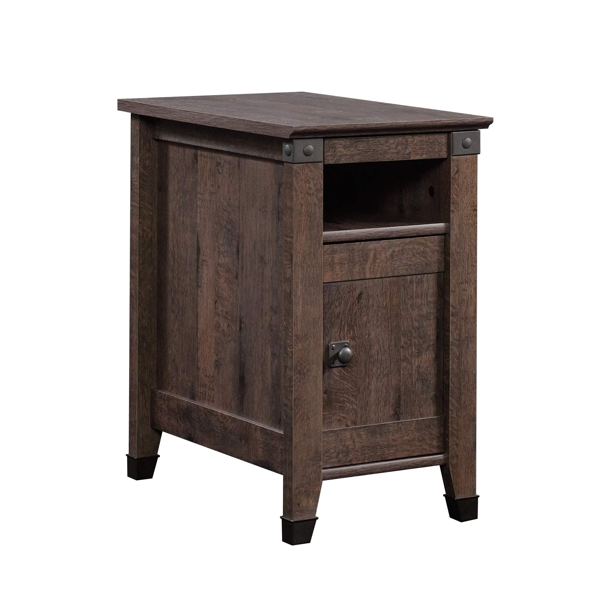 Sauder 420422 Carson Forge Side Table, L: 14.17'' x W: 22.44'' x H: 24.61'', Coffee Oak finish by Sauder