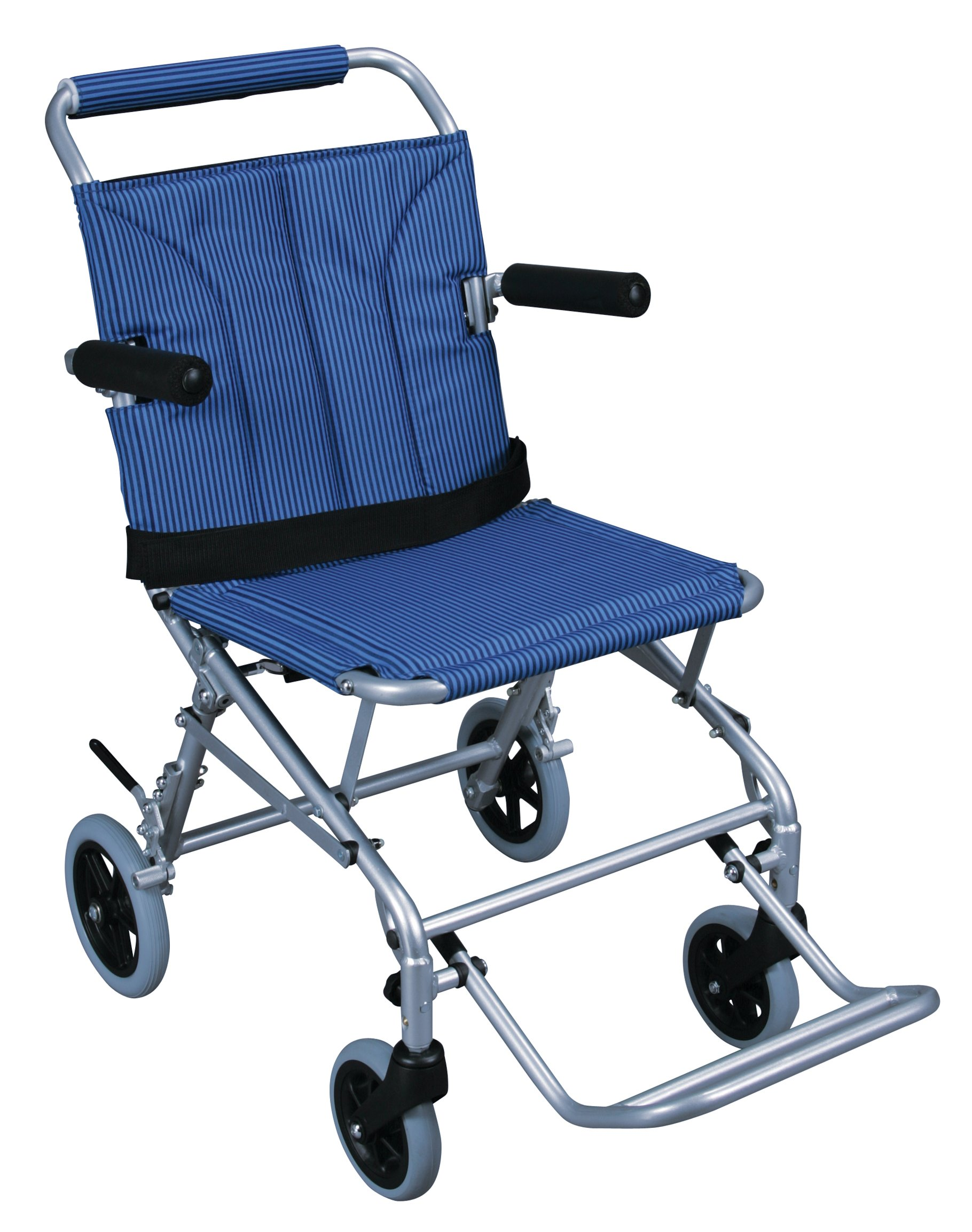 Drive Medical Super Light, Folding Transport Chair with Carry Bag, Blue by Drive Medical