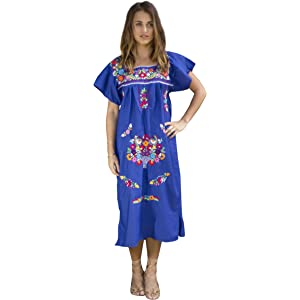 76ea211955a9 Amazon.com  Liliana Cruz Embroidered Mexican Youth Girls Dress (0 ...