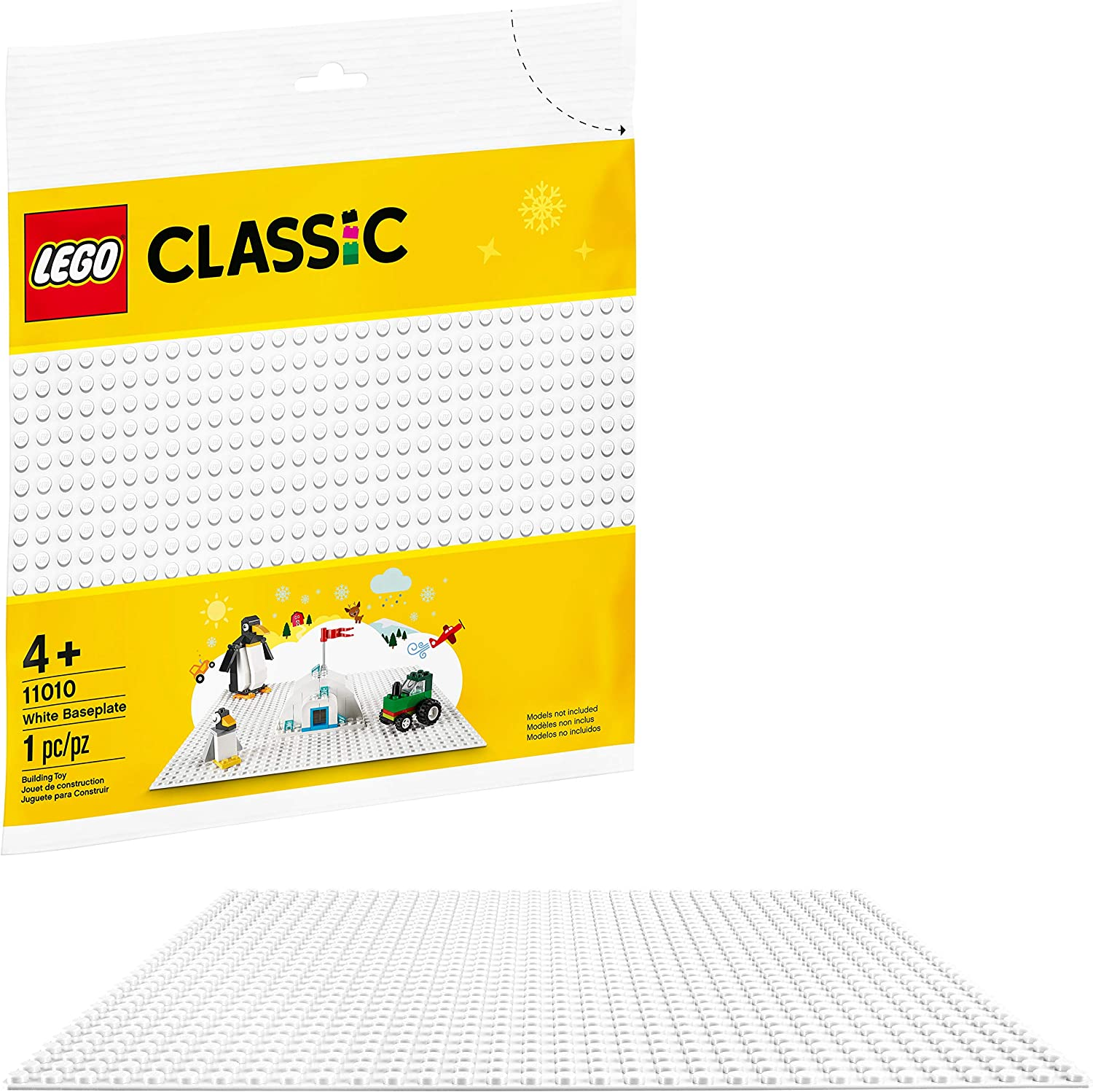 Lego 5 New White Plate Pieces 2 x 3