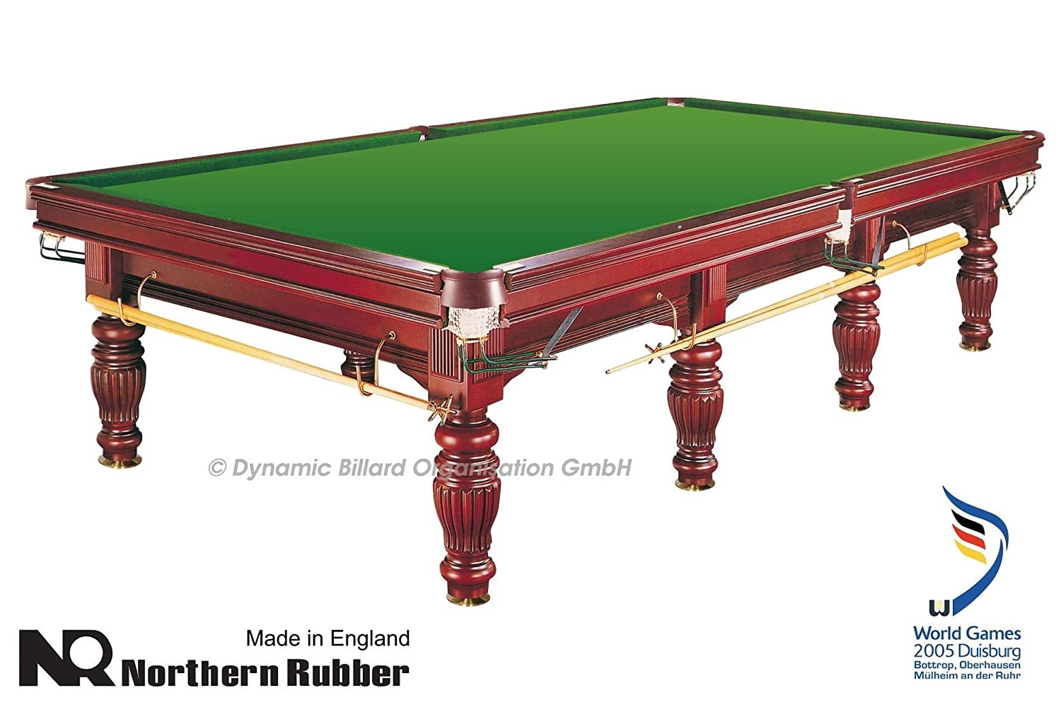 Billardtisch Dynamic Prince, 12 ft. (Fuß), mahagoni, Snooker 12 ft. (Fuß)